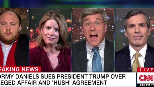Watch A Trump Backer's Painfully Dumb Joke Startle Everyone Into Silence On CNN