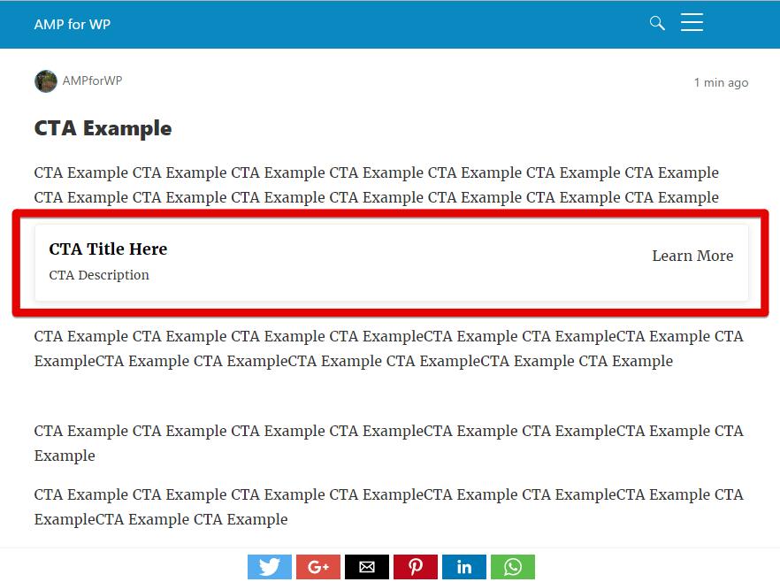 AMP CTA Example