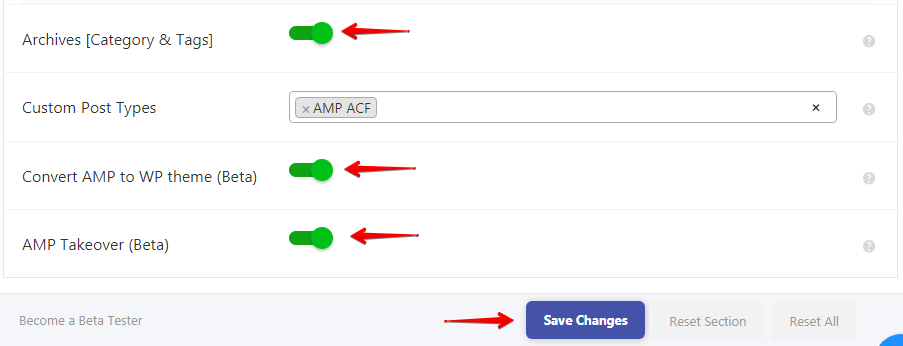 Configuring AMP options / settings - AMP Tutorials