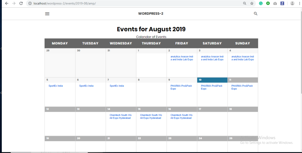 How to integrate The Events Calendar in AMP - AMP Tutorials