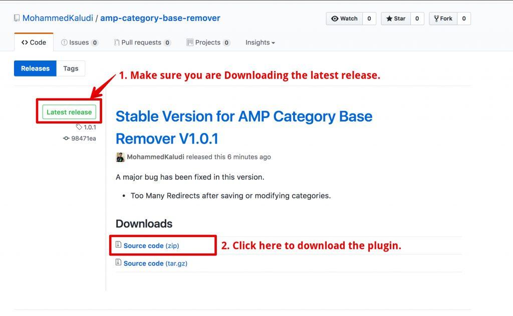 Stable Version for AMP Category Base Remover Plugin V1.0.1