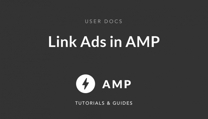 link Ads using Advanced AMP Ads