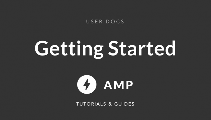 getting started with AMP