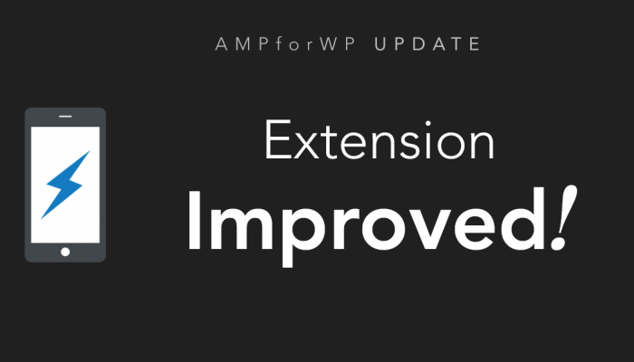 amp extension update