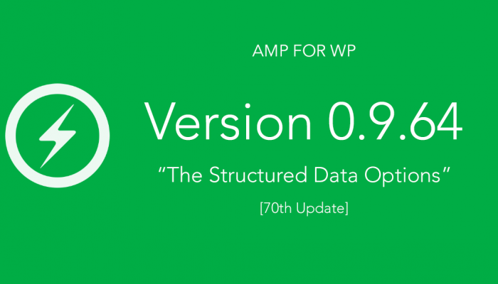0.9.64 Released – Structured Data Options [70th Update]