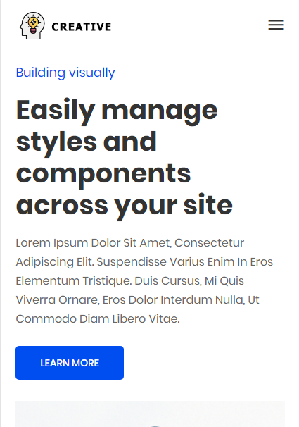 Creativr Services AMP WP theme