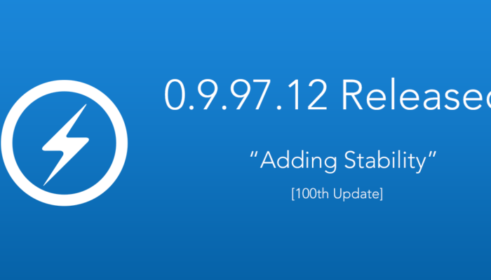 "0.9.97.12 Released ""Adding Stability"" [100th Update]"